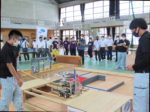 20201107_県高校ロボット競技大会 デモストレーション競技のウシュマイ(八商工)写真ー2