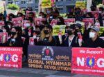 20210505_故国の「軍政」に抗議 ミャンマー人ら100人集結(HUB沖縄様)
